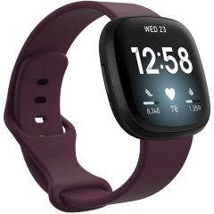 iMoshion Cinturino in Silicone Fitbit Sense / Versa 3 - Rosso scuro