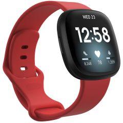 iMoshion Cinturino in Silicone Fitbit Sense / Versa 3 - Rosso