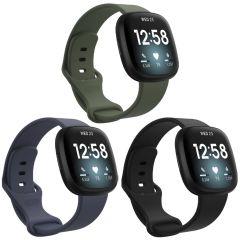 iMoshion Multipack Cinturino in Silicone Fitbit Sense / Versa 3 - Nero / Verde / Blu