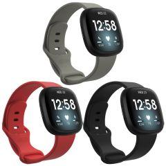 iMoshion Multipack Cinturino in Silicone Fitbit Sense / Versa 3 - Nero / Grigio / Rosso