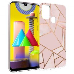 iMoshion Cover Design Samsung Galaxy M31 - Pink Graphic
