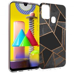 iMoshion Cover Design Samsung Galaxy M31 - Black Graphic