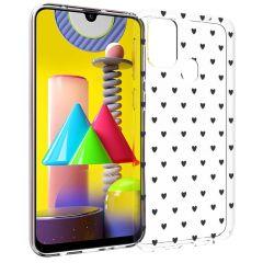 iMoshion Cover Design Samsung Galaxy M31 - Hearts All Over Black