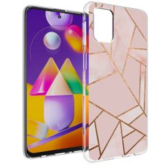 iMoshion Cover Design Samsung Galaxy M31s - Pink Graphic