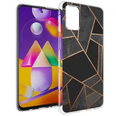 iMoshion Cover Design Samsung Galaxy M31s - Black Graphic
