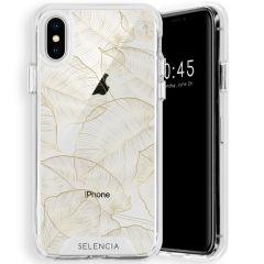 Selencia Zarya Cover Fashion Extra Protettiva iPhone Xs / X - Gold Botanic