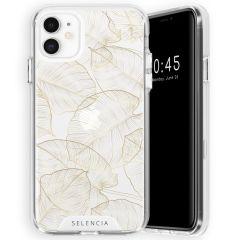 Selencia Zarya Cover Fashion Extra Protettiva iPhone 11 - Gold Botanic