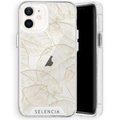 Selencia Zarya Cover Fashion Extra Protettiva iPhone 12 Mini - Gold Botanic