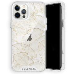 Selencia Zarya Cover Fashion Extra Protettiva iPhone 12 (Pro) - Gold Botanic