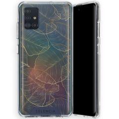 Selencia Zarya Cover Fashion Extra Protettiva Samsung Galaxy A51  - Gold Botanic