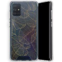 Selencia Zarya Cover Fashion Extra Protettiva Samsung Galaxy A71  - Gold Botanic