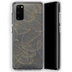Selencia Zarya Cover Fashion Extra Protettiva Samsung Galaxy S20  - Gold Botanic