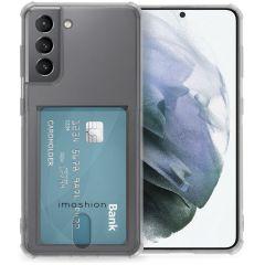 iMoshion Cover Flessibile con Portafoglio Samsung Galaxy S21 - Trasparente