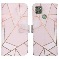 iMoshion Design Custodia a Libro Morbida Motorola Moto G9 Power - Pink Graphic