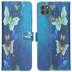iMoshion Design Custodia a Libro Morbida Motorola Moto G9 Power - Blue Butterfly