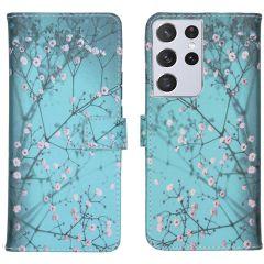 iMoshion Design Custodia a Libro Morbida Samsung Galaxy S21 Ultra - Blossom