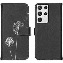 iMoshion Design Custodia a Libro Morbida Samsung Galaxy S21 Ultra - Dandelion