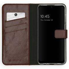 Selencia Custodia Portafoglio in Vera Pelle Samsung Galaxy A12 - Marrone