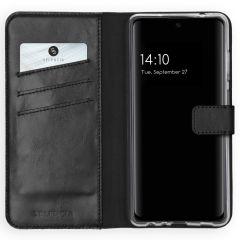 Selencia Custodia Portafoglio in Vera Pelle Samsung Galaxy A72 - Nero