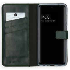 Selencia Custodia Portafoglio in Vera Pelle Samsung Galaxy A72 - Verde