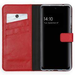 Selencia Custodia Portafoglio in Vera Pelle Samsung Galaxy A72 - Rosso