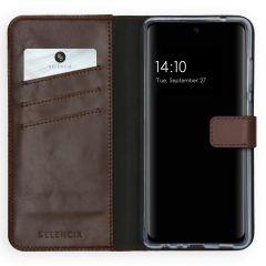 Selencia Custodia Portafoglio in Vera Pelle Samsung Galaxy A72 - Marrone