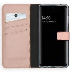 Selencia Custodia Portafoglio in Vera Pelle Samsung Galaxy A72 - Rosa