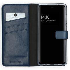 Selencia Custodia Portafoglio in Vera Pelle Samsung Galaxy A72 - Blu