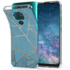 iMoshion Cover Design Motorola Moto E7 Plus / G9 Play - Blue Graphic