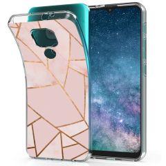 iMoshion Cover Design Motorola Moto E7 Plus / G9 Play - Pink Graphic
