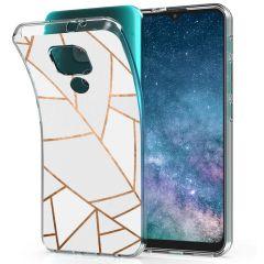 iMoshion Cover Design Motorola Moto E7 Plus / G9 Play - White Graphic