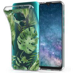 iMoshion Cover Design Motorola Moto E7 Plus / G9 Play - Monstera Leaves