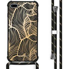 iMoshion Cover Design con Cordino iPhone 8 Plus / 7 Plus - Golden Leaves
