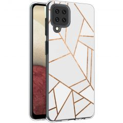 iMoshion Cover Design Samsung Galaxy A12 - White Graphic
