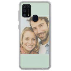 Cover Flessibile Personalizzate Samsung Galaxy M31 - Trasparente