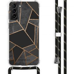 iMoshion Cover Design con Cordino Samsung Galaxy S21 Plus - Black Graphic