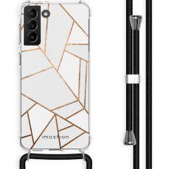 iMoshion Cover Design con Cordino Samsung Galaxy S21 Plus - White Graphic
