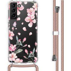 iMoshion Cover Design con Cordino Samsung Galaxy S21 Plus - Blossom Watercolor