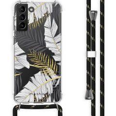 iMoshion Cover Design con Cordino Samsung Galaxy S21 Plus - Glamour Botanic
