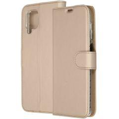 Accezz Custodia Portafoglio Flessibile Samsung Galaxy A12 - Oro