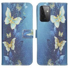 iMoshion Design Custodia a Libro Morbida Samsung Galaxy A72 - Blue Butterfly