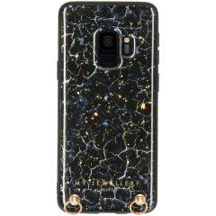 My Jewellery Custodia rigida con cordino Marmo Samsung Galaxy S9 - Blu Marmo