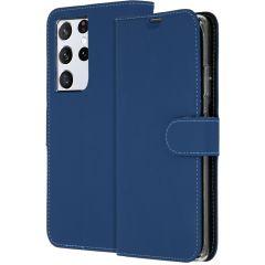 Accezz Custodia Portafoglio Flessibile Samsung Galaxy S21 Ultra - Blu scuro