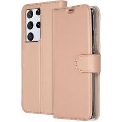 Accezz Custodia Portafoglio Flessibile Samsung Galaxy S21 Ultra - Rosa oro