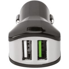 Celly Caricabatterie per auto USB duale - 3,4A - Nero