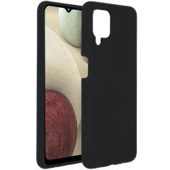 Accezz Cover in Silicone Liquido Samsung Galaxy A12 - Nero