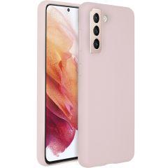 Accezz Cover in Silicone Liquido Samsung Galaxy S21 - Rosa