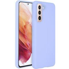 Accezz Cover in Silicone Liquido Samsung Galaxy S21 - Viola