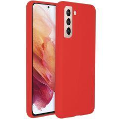 Accezz Cover in Silicone Liquido Samsung Galaxy S21 - Rosso