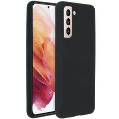 Accezz Cover in Silicone Liquido Samsung Galaxy S21 Plus - Nero